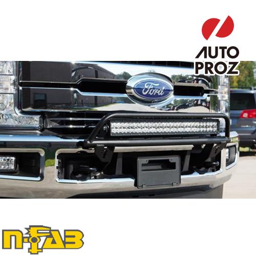 【USエヌファブ 直輸入正規品】 n-Fab フォード F250/F350 Super Duty (アクティブクルーズコントロールを除く) 2017年式 O.R. ライトマウント ツヤなしブラック