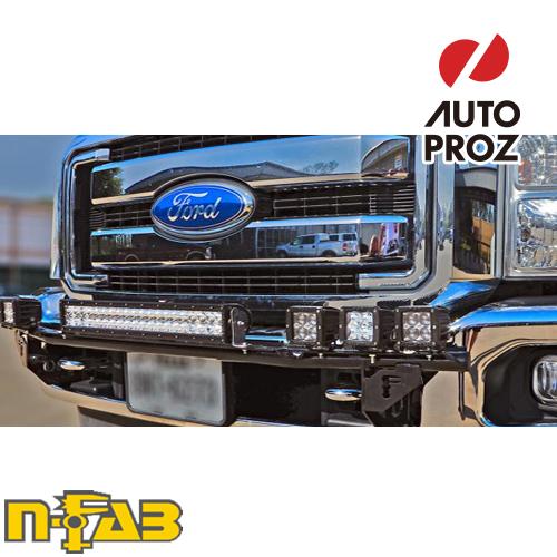 【USエヌファブ 直輸入正規品】 n-Fab フォード F250/F350 Super Duty/エクスカージョン 1999-2007年式 ライトバーマウント ツヤありブラック