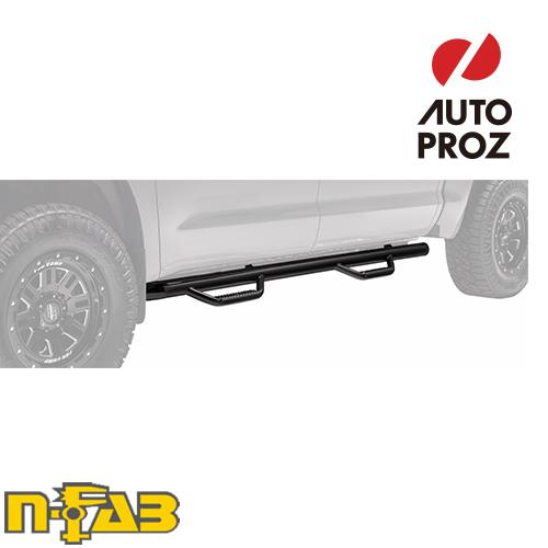 【USエヌファブ 直輸入正規品】 n-Fab フォード F250/F350 Super Duty スーパークルー 8フィートベッド ダブルタイヤに適合 2017年式 ナーフステップ ツヤありブラック