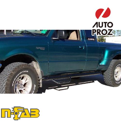 【USエヌファブ 直輸入正規品】 n-Fab フォード/マツダ レンジャー/B-Series スーパーキャブ/Plus Cab 6フィートベッド 1998-2006年式 ナーフステップ ツヤありブラック