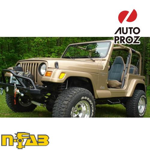 【USエヌファブ 直輸入正規品】 n-Fab Jeep ラングラー TJ/BJ 1997-2006年式 ナーフステップ ツヤありブラック
