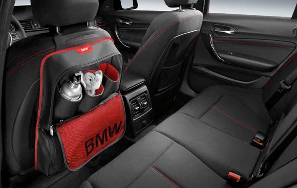 【USビーエムダブリュー直輸入純正品】BMW全車種全年式適合バックレストバッグスポーツラインシート背面用 小物入れ