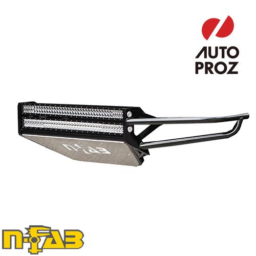 【USエヌファブ 直輸入正規品】 n-Fab ダッジ ラム 1500 2002-2008年式 PreRunner フロントバンパー LEDライトマウント付き ツヤありブラック