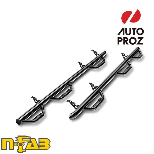 【USエヌファブ 直輸入正規品】 n-Fab フォード F150 スーパーキャブ 6.5フィートベッド 2004-2008年式 ナーフステップ ベッドアクセス ツヤありブラック