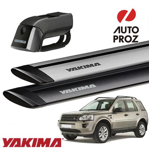 [YAKIMA 正規品] ランドローバー フリーランダー2 2006-14年式に適合 ルーフレール付き車両に適合 ベースキャリアセット (ティンバーライン・ジェットストリームバーS)