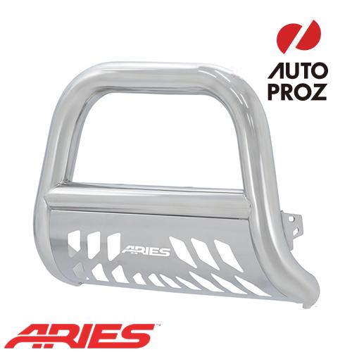[USアリーズ 直輸入正規品] Aries フォード F-250/350 2017年式以降現行 ビッグホーン 4インチ ブルバー ステンレス スキッドプレート付き