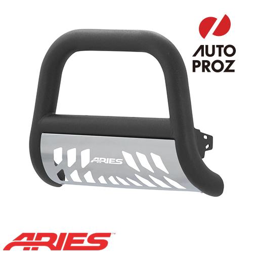 [USアリーズ 直輸入正規品] Aries フォード F-250/350 2017年式以降現行 ビッグホーン 4インチ ブルバー ブラック アルミ スキッドプレート付き