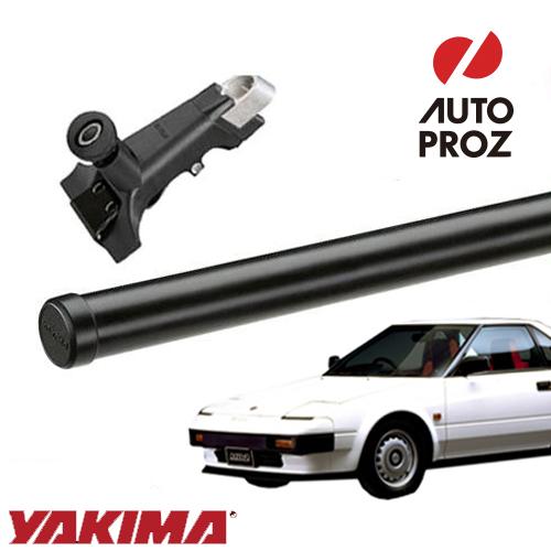 [USヤキマ 正規輸入代理店] YAKIMA トヨタ MR2 1984-1989年式 AW1系 レインガーター有り車両に適合 ベースラックセット (レインガータータワー・丸形クロスバー48インチ)