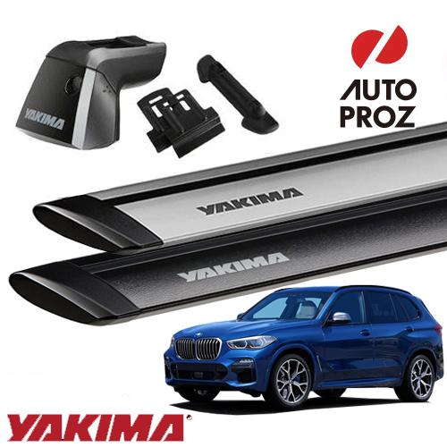 [YAKIMA 正規品] BMW X5 G05型 フラッシュレール付き車両に適合 ベースキャリアセット (リッジライン・リッジクリップ31・ジェットストリームバーM)