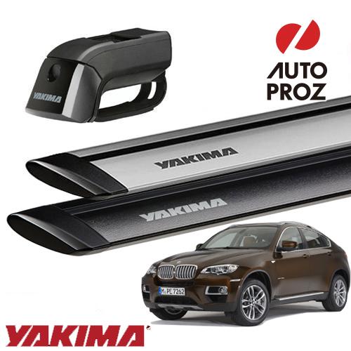 [YAKIMA 正規品] BMW X5 E53/E70型 2008-14年式に適合 ルーフレール付き車両に適合 ベースキャリアセット (ティンバーライン・ジェットストリームバーM)