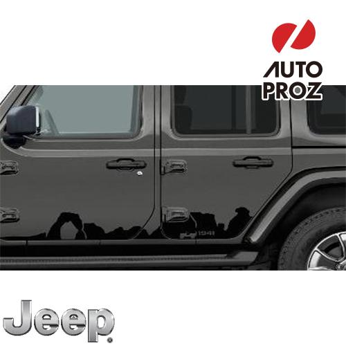 [Jeep/MOPAR 純正品] JLラングラー 4ドア用 ボディサイド Mountainデカール