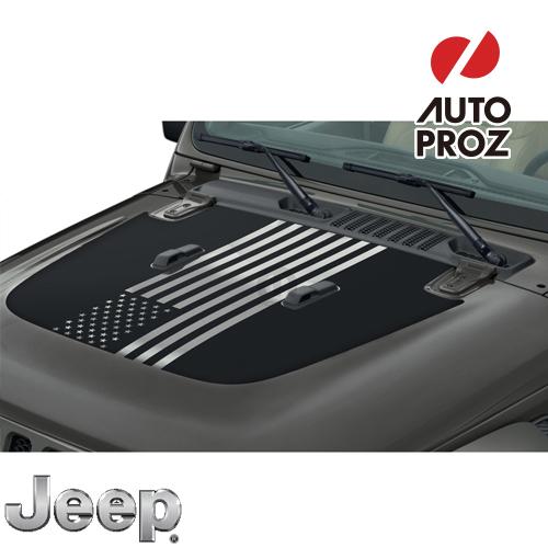 [Jeep/MOPAR 純正品] JLラングラー ボンネット アメリカ国旗デカール