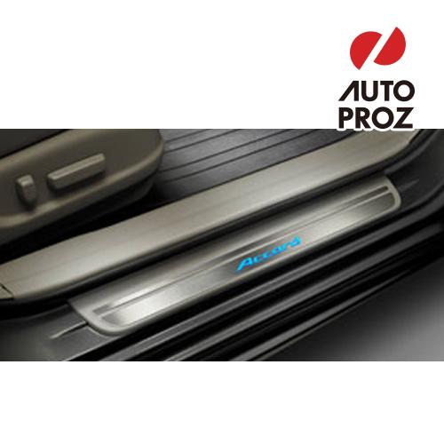 【USホンダ 直輸入純正品】HONDA Accord Sedanアコード 2012年式LED イルミネーション付きドアシルプロテクター(スカッフプレート/キッキングプレート)