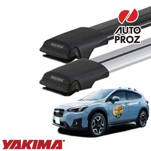 [YAKIMA 正規品] ベースキャリア スバル GT系XV ルーフレール有り車両に適合 ベースラックセット (レールバーLG,MDサイズ)