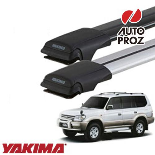 [YAKIMA 正規品] トヨタ 90系ランドクルーザープラド ルーフレール有り車両に適合 ベースラックセット (レールバーLGサイズ×2)