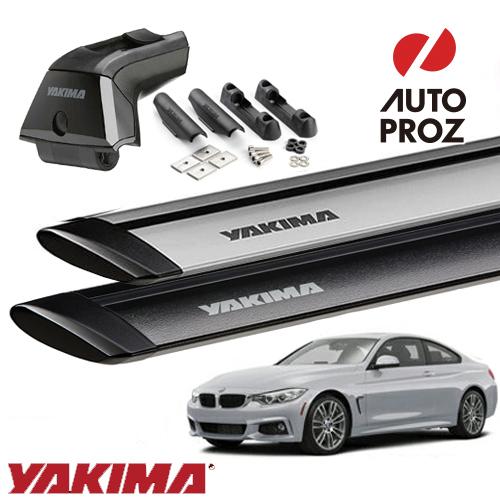 [YAKIMA 正規品] BMW 4シリーズ クーペ F32型 フィックスポイント付き車両に適合 (スカイラインタワー・ランディングパッド11×2・ジェットストリームバーS)