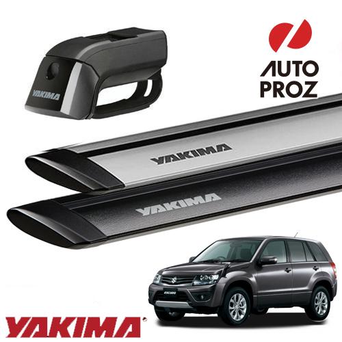 [YAKIMA 正規品] スズキ 3代目 エスクード ルーフレール付き車両に適合 ベースキャリアセット (ティンバーライン・ジェットストリームバーS)