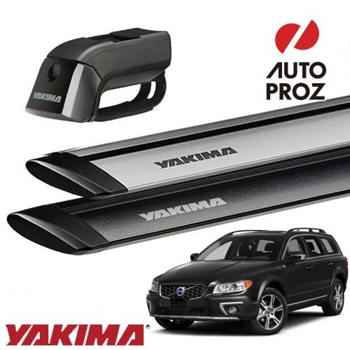 [YAKIMA 正規品] ボルボ V70/XC70 ルーフレール付き車両に適合 ベースキャリアセット (ティンバーライン・ジェットストリームバーS)