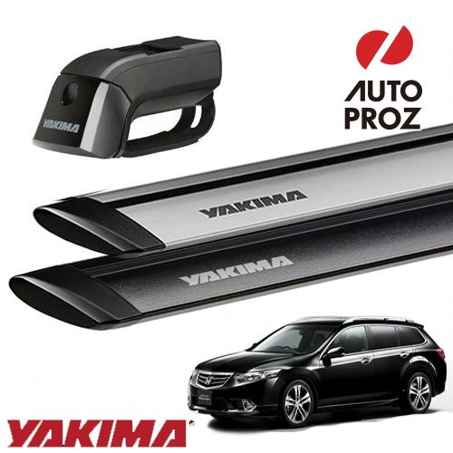 [YAKIMA 正規品] ホンダ アコードツアラー ルーフレール付き車両に適合 ベースキャリアセット (ティンバーライン・ジェットストリームバーS)