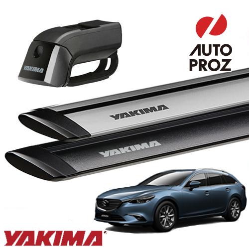 [YAKIMA 正規品] マツダ アテンザワゴン ルーフレール付き車両に適合 ベースキャリアセット (ティンバーライン・ジェットストリームバーS)