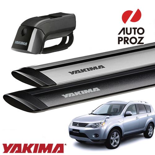 [YAKIMA 正規品] 三菱 パジェロミニ CW5W/6W型 ルーフレール付き車両に適合 ベースキャリアセット (ティンバーライン・ジェットストリームバーS)