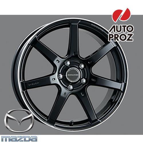[USマツダ 直輸入純正品]Mazda3 マツダ3 (AXELA アクセラ) BM/BY型 2013-2019年 RAYS(レイズ) 18インチフォージドホイールグロスブラック※1本 センターキャップ