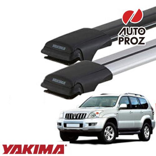 [YAKIMA 正規品] トヨタ 120系ランドクルーザープラド ルーフレール有り車両に適合 ベースラックセット (レールバーLGサイズ×2)