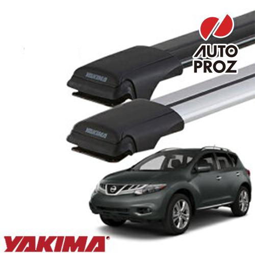 [YAKIMA 正規品] 日産 Z51型ムラーノ ルーフレール有り車両に適合 ベースラックセット (レールバーLGサイズ×2本)