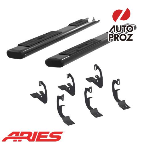 [USアリーズ 直輸入正規品] Aries シボレー/GMC シルバラード/シエラ 1500/2500/3500 EXTキャブ 6インチオーバルサイドバー アルミ製