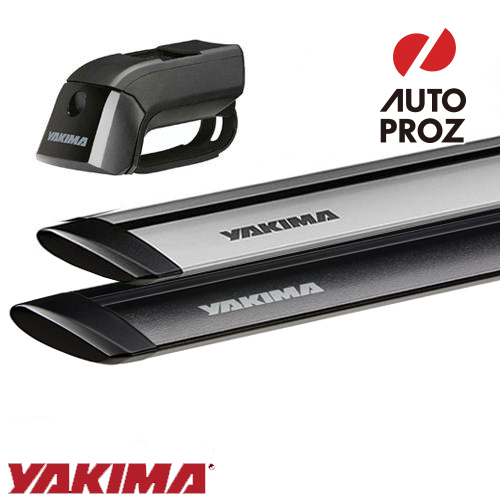 [YAKIMA 正規品] ベースキャリア ルーフレール付き車両に適合 ベースキャリアセット (ティンバーライン・ジェットストリームバー)