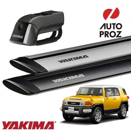 [YAKIMA 正規品] トヨタ FJ 全年式 ルーフレール有り車両に適合 ベースラックセット (ティンバーライン・ジェットストリームバーM)