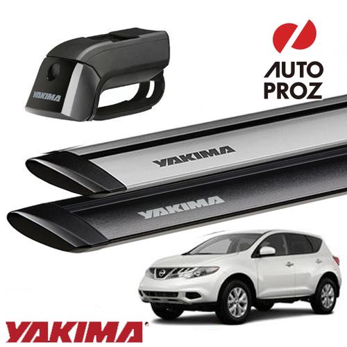 [YAKIMA 正規品] 日産 ムラーノ Z50, Z51型 ルーフレール付き車両に適合 ベースラックセット (ティンバーライン・ジェットストリームバーM)