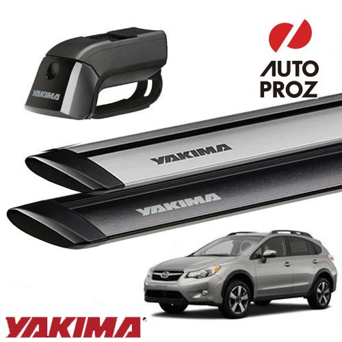 [YAKIMA 正規品] スバル XV GP型 ルーフレール付き車両に適合ベースラックセット (ティンバーライン・ジェットストリームバーS)