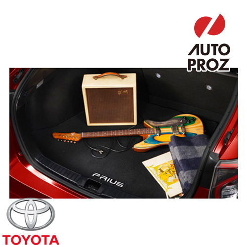 【USトヨタ直輸入純正品】TOYOTA Prius (プリウス)2016年式以降 50型に適合カーペットカーゴマット(ラゲッジマット・トランクマット)スペアタイヤなし車両用