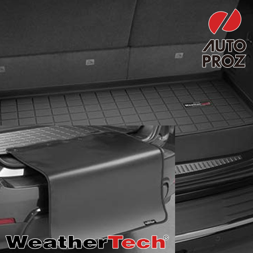 [Weathertech 正規品] シボレー サバーバン 2015年式以降現行 3列目以降 バンパープロテクター付きカーゴライナー ブラック
