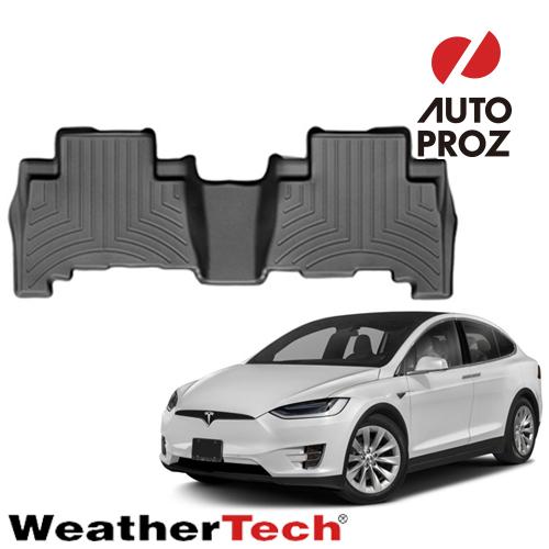 [WeatherTech 正規品] テスラ モデルX 2016年式以降現行 フロアマット/フロアライナー 5シート/右ハンドル車に適合 2列目 ブラック