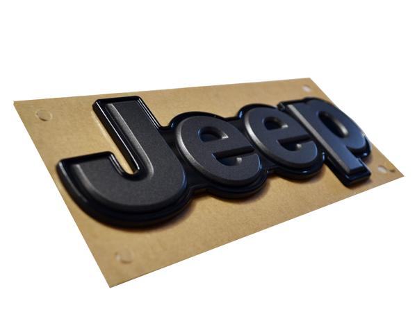 "Jeep 레네게이드""JEEP""로고 삽입 리어 엠블럼 블랙"