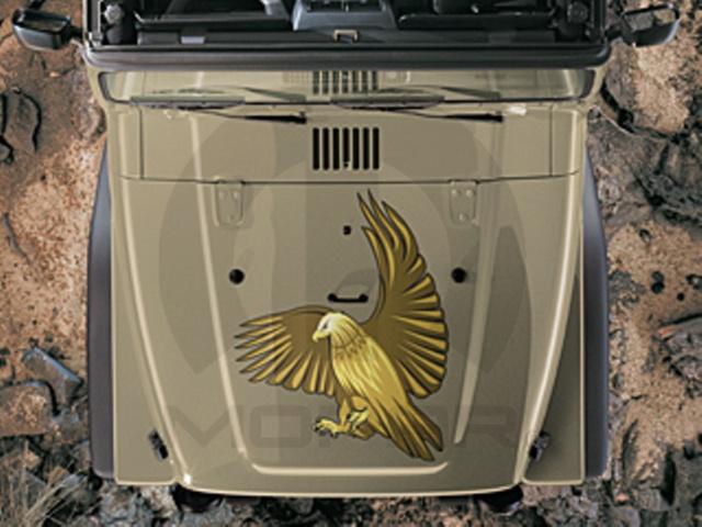 【USジープ直輸入純正】JEEP ジープJK Wrangler JKラングラー2ドア/4ドア 2007年式以降 現行ゴールデンイーグルフロント用アップリケ/デカール(ステッカー/シール)