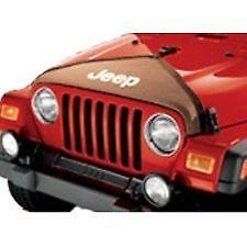 【USジープ直輸入純正】JEEP ジープJK Wrangler JKラングラー2ドア/4ドア 2007年式以降 現行JEEP (ジープ)ロゴ入りフロントマスク(ノーズマスク/フルノーズブラ)カーキ