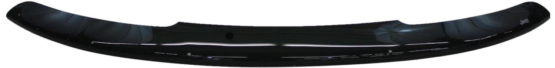 【JEEP直輸入純正】Compass(コンパス) 2011年-2017年JEEP (ジープ)ロゴ入りフロント エアー ディフレクター※スモークフードプロテクター/フッドプロテクター(別名:バグガード)
