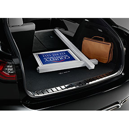 Lexus Lexus new RX350/RX450H/RX200T 2016 model year since current (0/2016 onwards) carpet cargo mat F sport logo with silver Stech (luggage, cargo TRA, trunk mat) black