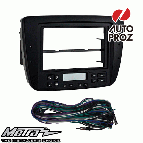 [METRA 正規品] フォード トーラス Electronic Clime Control付車両 2004-2007年 オーディオ取り付けキット/ダッシュキット マットブラック