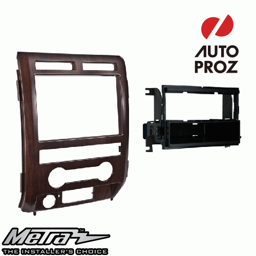 [METRA 正規品] フォード F-150 2009-2010年 シングルDIN オーディオ取り付けキット/ダッシュキット 木目調(Ash Satin)