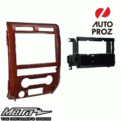 METRA 正規品 フォード F-150 2009-2010年 シングルDIN オーディオ取り付けキット/ダッシュキット 木目調(Milano Maple)