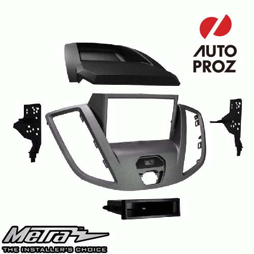 [METRA 正規品] フォード トランジット ナビなし車両 2015年以降現行 シングルDIN/ダブルDIN オーディオ取り付けキット/ダッシュキット グレー