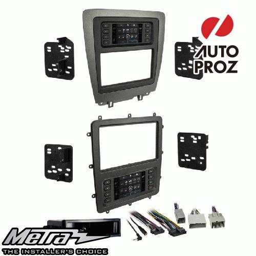 METRA 正規品 フォード マスタング 2010-2014年 シングルDIN/ダブルDIN オーディオ取り付けキット/ダッシュキット マットブラック