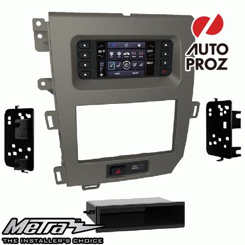 [METRA 正規品] フォード エッジ 4.2インチスクリーン付車両 2011-2014年 シングルDIN/ダブルDIN オーディオ取り付けキット/ダッシュキット チャコールグレー