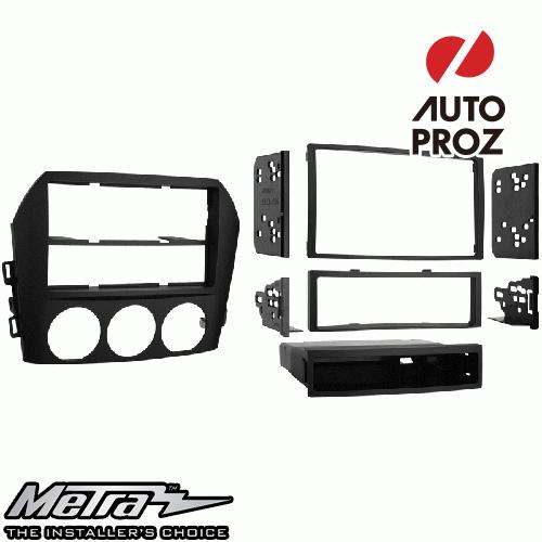 [METRA 正規品] マツダ MX-5 2006-2008年 シングルDIN/ダブルDIN オーディオ取り付けキット/ダッシュキット マットブラック