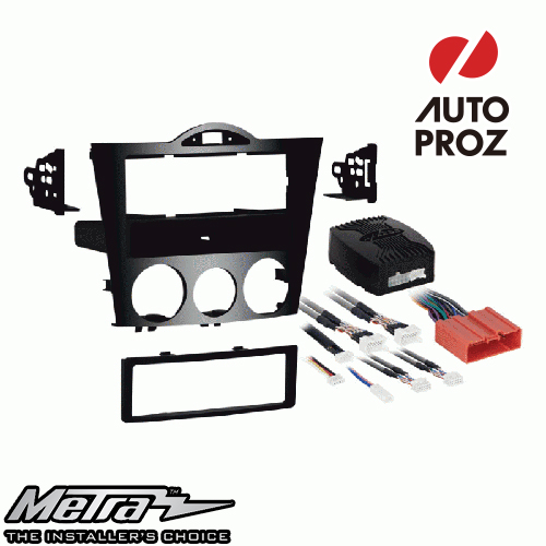 METRA 正規品 マツダ RX-8 2004-2008年 シングルDIN オーディオ取り付けキット/ダッシュキット ハイグロスブラック