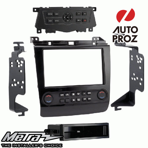 METRA 正規品 日産 マキシマ Technology Package 2009-2014年 シングルDIN/ダブルDIN オーディオ取り付けキット/ダッシュキット ハイグロスブラック